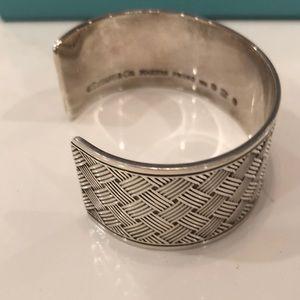 Tiffany & co. Basket weave cuff bracelet